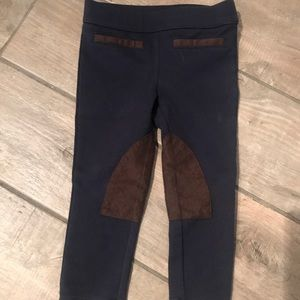 Navy and brown horse back riding inspired pants